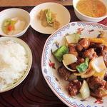 成龍飯店 - 古老肉(スブタ)定食