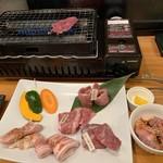 あかまる牛肉店 - 4,000円のコース