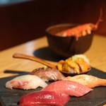 KINKA sushi bar izakaya - 特選寿司六貫とお椀
