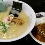 ラーメン茶湖 - 料理写真:ホッキラーメン&半ホッキカレー セット