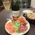 ワインカフェ - 前菜の盛り合わせ580円とお通し400円