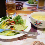さわやか - Bセットのサラダと単品のカップスープ