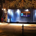 shot bar 7peace - 梅田・東通商店街を東に抜けたところ(計画道路)より。
