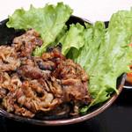 肉のヤマキ商店 - 焼肉丼+肉増量