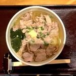 駄文 - 温・肉うどん(800円)+大盛(100円)