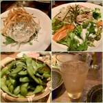 とりのほまれ - 前菜とサラダたち