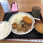 赤松パーキングエリア(上り線)モテナス - おすすめ定食 580円