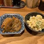 もがめ食堂 - 切り干し大根の煮物とマカロニサラダ