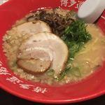 神屋流 博多道場 - ラーメンと明太高菜飯のセット850円