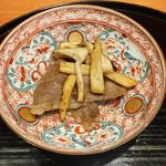 瞬 - 松茸と三田牛瀬戸牧場牛肉