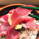鵜舟 - 鉄火丼 分厚いマグロ♡