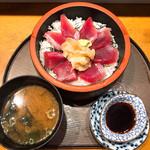 鵜舟 - 鉄火丼 味噌汁付きます