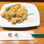 鵜舟 - アスパラ天ぷら