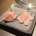 松阪牛 焼肉のGANSAN - イチボとミスジ