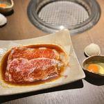 松阪牛 焼肉のGANSAN - サーロインを秒ロースで