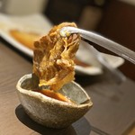 松阪牛 焼肉のGANSAN - サーロインをすき焼き風に