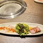 松阪牛 焼肉のGANSAN - 韓国風カルパッチョ ローストビーフ添え