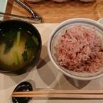 118223876 - 古代米ご飯とお味噌汁