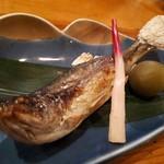 酒仙の宿 晩 - 岩魚の塩焼き