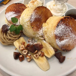 Butter - 焦がしキャラメリゼのパリふわスフレパンケーキ〜マロンクリーム添え〜