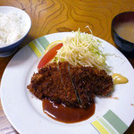 カレーコーナー三原 - とんかつ定食