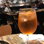 ビオディナミ - アペロールスプリッツ(オレンジリキュール+スパークリングワイン)