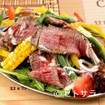 グランカルロス96 - 料理写真:肉も野菜も味わいたい方へ『気まぐれロービサラダwithクリーミーシーザードレッシング』