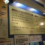 カレーハウス リオ - 店内に貼られた「こだわり」