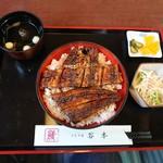 谷本 - 料理写真:鰻丼に肝吸い付き2300円!