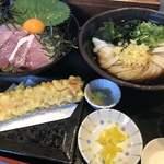 荒木伝次郎 - 天然はまちの海鮮丼セット♪ 1.080円