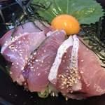 荒木伝次郎 - 天然はまちの海鮮丼♪