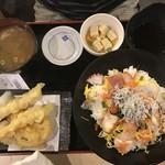 鯛将丸 - 8月2日海鮮ちらしと天ぷら