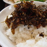 きんしゃい亭 - ご飯に高菜最高です。