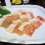焼肉 蔵元 - コースの豚肉はアグー豚のロースです。