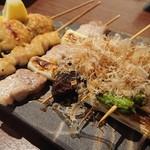 ろく - 串焼 盛り合わせ6種