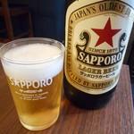 神戸鉄板 長田いっしん - サッポロラガービール(大瓶)