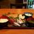 炉ばた七福 - 炭火焼き魚定食(特大あじ開き)