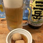 尾崎 - 生ビールとお通し。