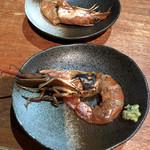 あなぐま亭 - アテその3:海老の炙り♪