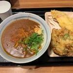 親父の製麺所 - カレーうどん、とり天、野菜かき揚げ