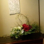 かみくら - 暑いところからお部屋に入ってお花が涼しげ