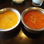 インドの恵み - キーマ・シーフードカレー