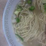麺家 青空 - 煮干し塩ラーメン 煮玉子入り 自家製麺