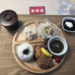二代目 男寿狼 - 鶏から揚げプレート(750円)