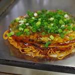 お好み焼き88 - 料理写真:カラメン焼き、イカ天トッピング