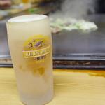 ホルモン料理専門處 利根屋 - 生ビール