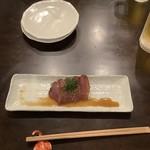 和酒菜 なかがわ - お通し(カツオの漬け)