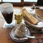 コメダ珈琲店 - 料理写真:クリームコーヒー550円(税込)+モーニングA(定番ゆで玉子)
