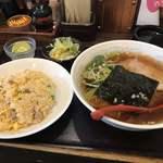 中国料理 宏苑 - 料理写真:醤油ラーメンとチャーハン並