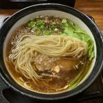 麺乃家 - 平打ちストレート中太麺
